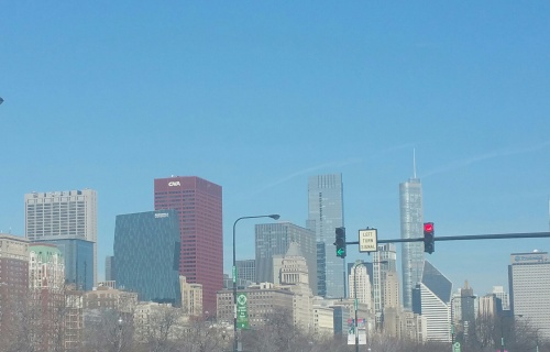 My city view approaching downtown going North on Lake Shore Drive.