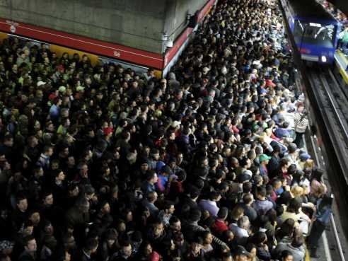 Mass craziness waiting for train. Photo courtesy of businessinsider.com.au