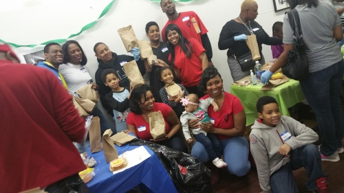 #hashtagchicago event coordinators taking a moment to smile with the children and teens who came out to volunteer today!